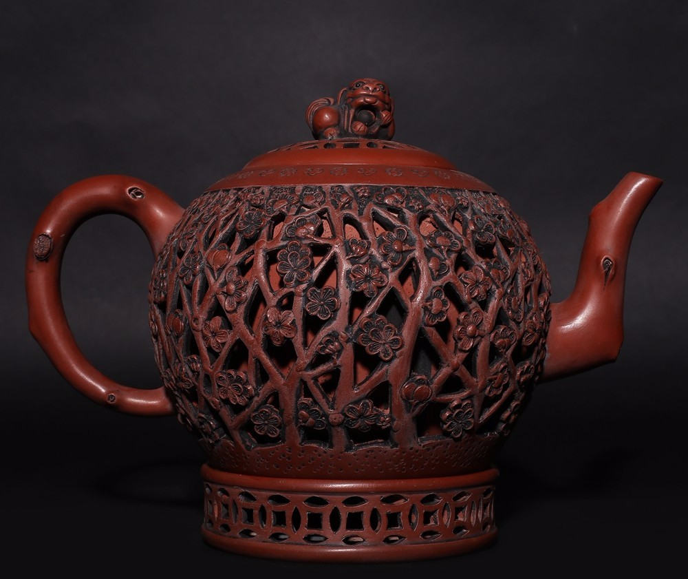Marvelous Rare Antique Chinese Zisha Pottery Purple Sand Teapot Marks HK006
