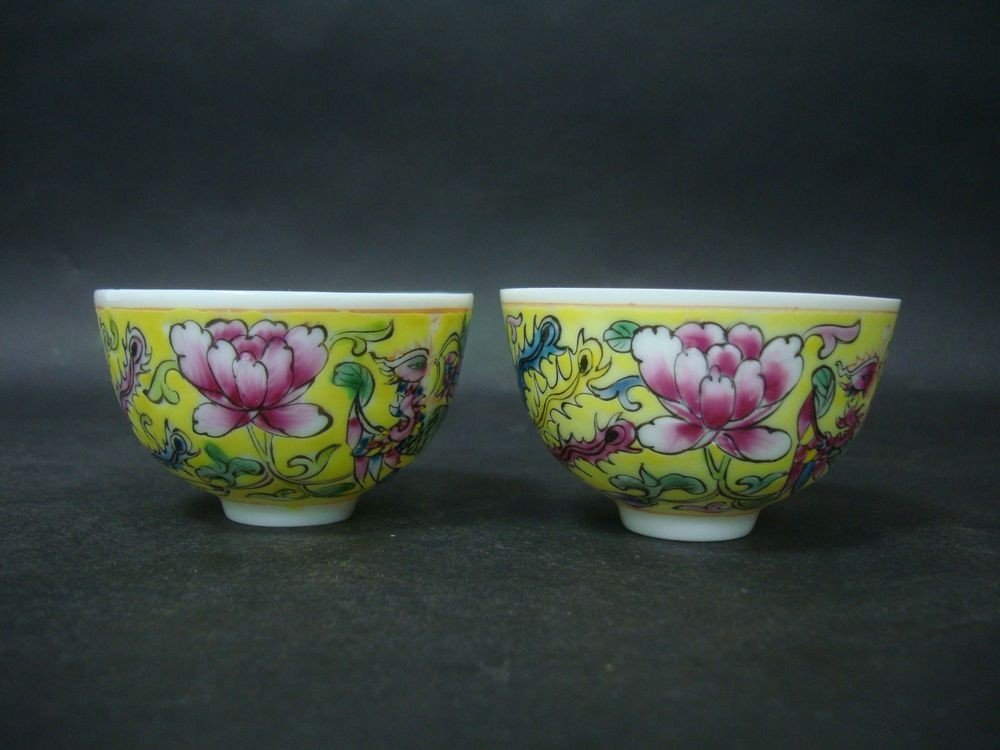 Pair of Fine Old Chinese Porcelain Cups